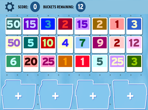 picture about Factoring Polynomials Games Printable identify Sortify: Factoring - GameUp - BrainPOP.
