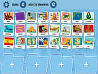 photograph about Parts of Speech Printable Games identified as Sortify: Elements of Speech - GameUp - BrainPOP.
