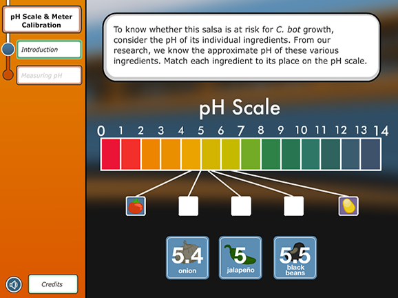 Slideshow image for Virtual Labs: pH Scale and Meter Calibration