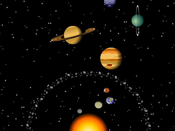 first pic of the whole solar system - photo #21